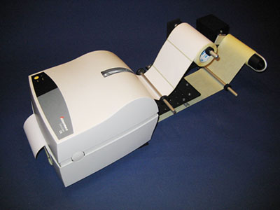 Back Paper UnRewinder URWB-4S with Intermec C4 Printer