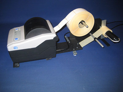 Back Paper UnRewinder with SATO CG4 Printer